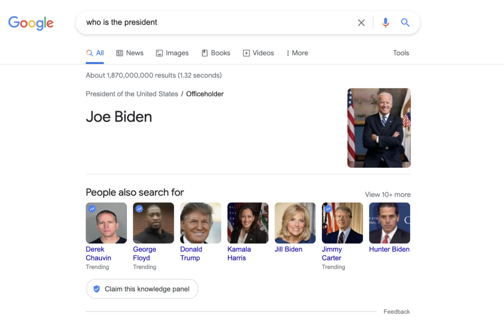 knowledge graph president